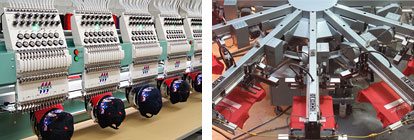 Screen print and embroidery machines