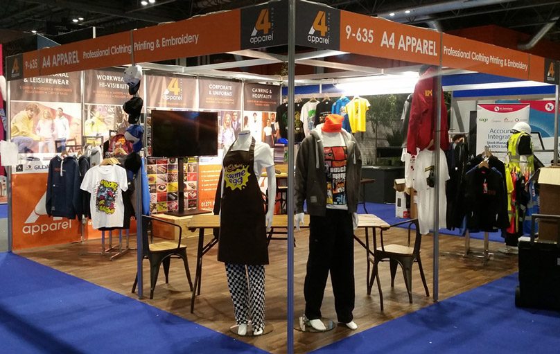 A4 Apparel stand at the Family Attraction Expo @ NEC 2018