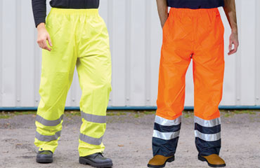Yoko HV018T ORANGE High Visibility Hi Vis Viz Cargo Combat Work Trousers GO RT