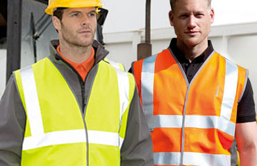 Mens RTY High Visibility Hi Vis Bright Motorway Long Sleeve Jacket Coat S to 5XL