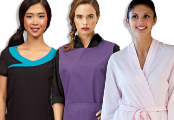 Photo of customised clothing suitable for health care professionals & beauticians